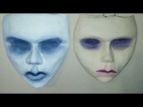 Paper mache mask! How to sculpt, mold and cast