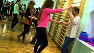 Видеоотзыв на открытый пробный урок по Вест Кост Свингу в Минске. Школа танцев DanceCafe.