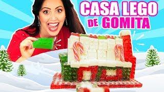 CASA DE LEGOS QUE SE COME! 😅 Armando Casa de Gomita comestible - SandraCiresArt