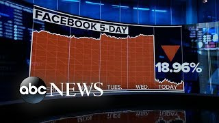 Facebook's market value plunges 19% in one day