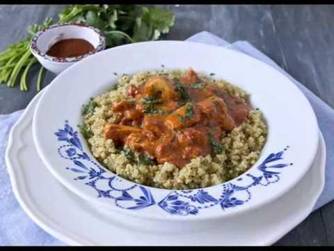 Indian style Quinoa & Cashew Chicken Salad