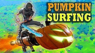 Flying with the Pumpkin Launcher Save the Fortnite World