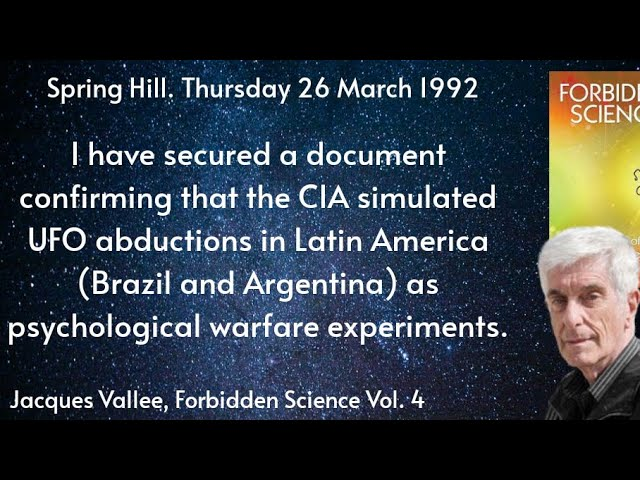 Jacques Vallee Describing Hoax Abductions And UFO Psychological Warfare