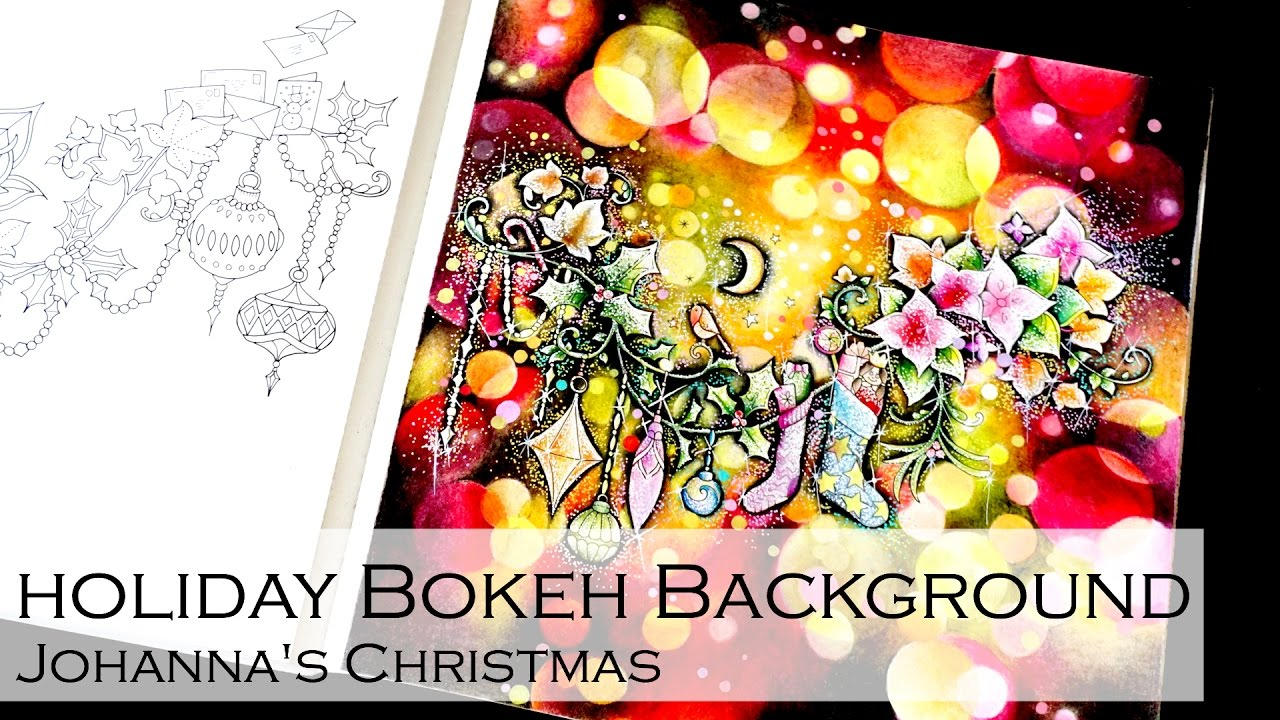 Holiday Bokeh Background Adult Coloring Book Johanna S Christmas