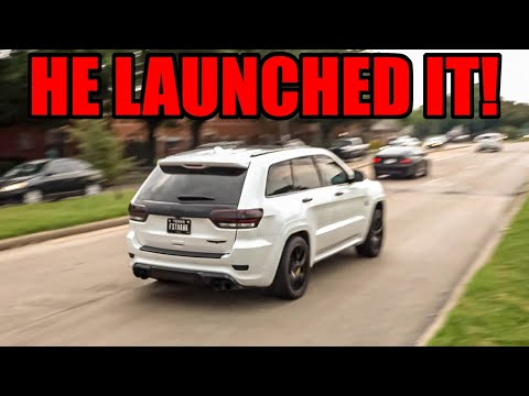 Jeep TRACKHAWK Launches It Right in Front of COPS at Supercar Show! - Cars Across Texas