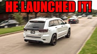 Jeep TRACKHAWK Launches It Right in Front of COPS at Supercar Show!