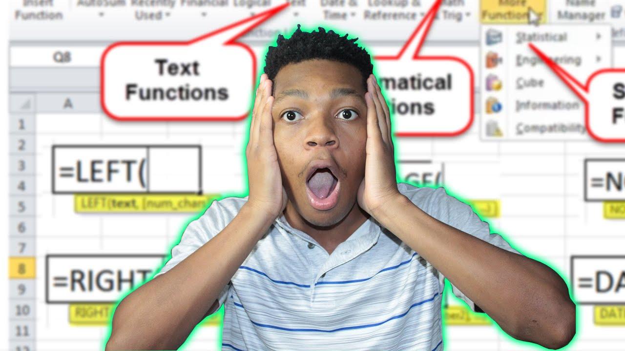 20 Easy Excel Formulas Everyone Should Know