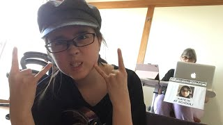 Making a loud song! (Kate's at school)