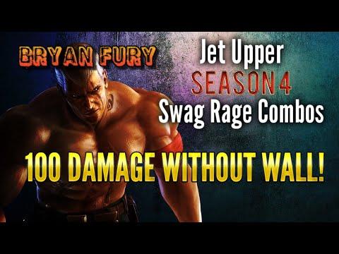 Tekken 7 - Bryan Jet Upper Rage Combos For Season 4