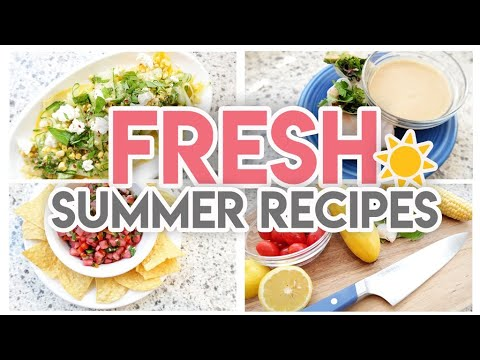 ☀ FRESH NO-COOK SUMMER RECIPES! �� COOK WITH ME �� JEN CHAPIN