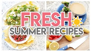 ☀ FRESH NO-COOK SUMMER RECIPES! 🍉 COOK WITH ME 🍽 JEN CHAPIN