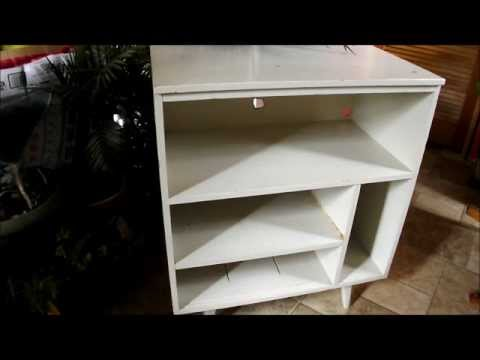 DIY Vintage 60s Record Stand Cabinet Redo Makeover