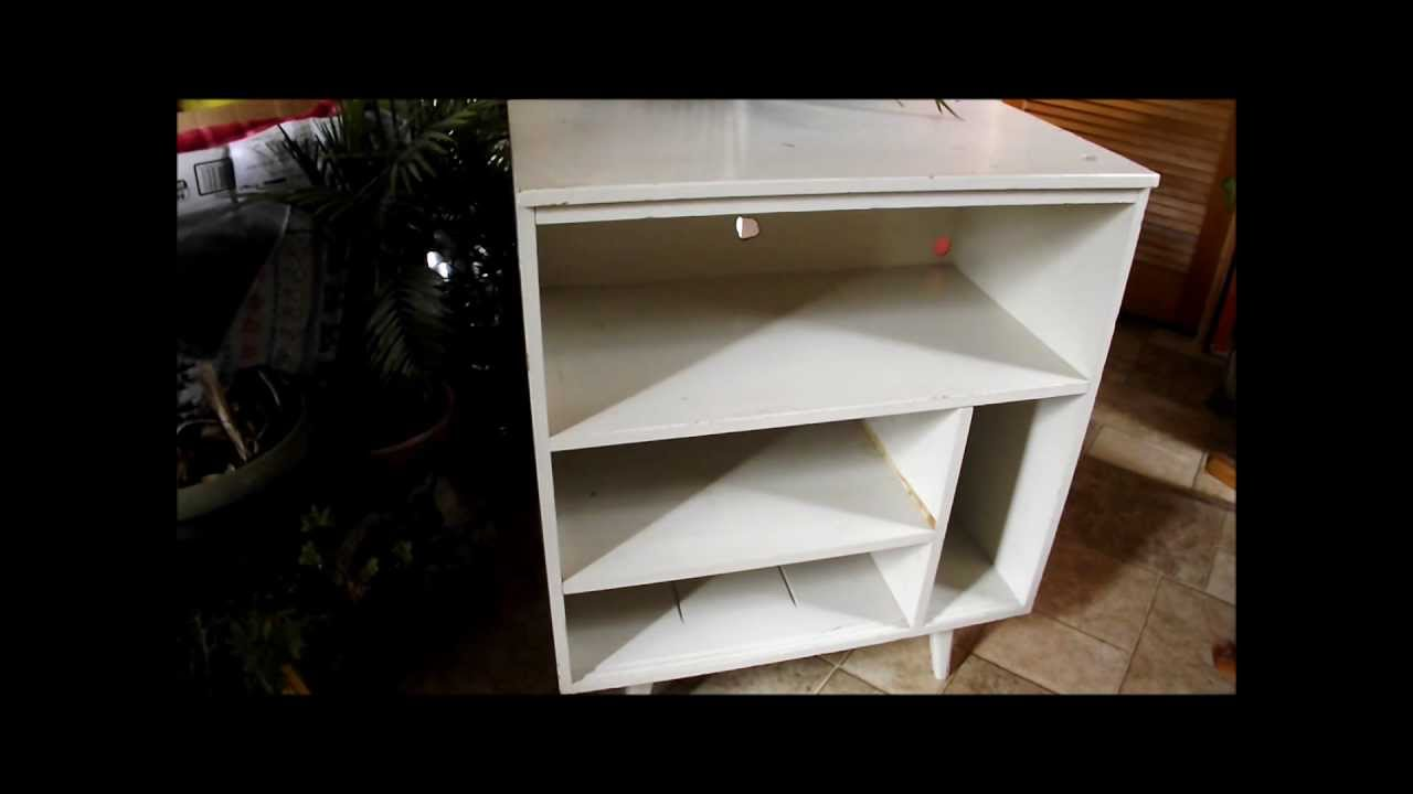 DIY Vintage 60s Record Stand Cabinet Redo Makeover - YouTube