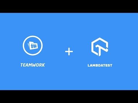 LambdaTest + Teamwork Integration   One Click Bug Logging