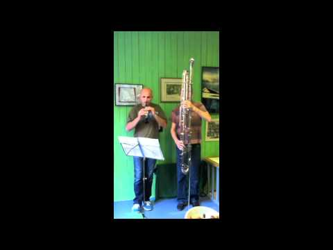 Pierre-Max Dubois - Duet for A-flat piccolo clarinet and octocontralto clarinet