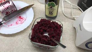 Салат из Буряка с Чесноком  и Оливкового масла  . Простой и полезный . Здоровое питание .