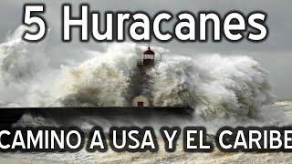 5 posibles huracanes 4 en America Videos del tifon javi Y el  terremoto  #jevi  #huracanflorence