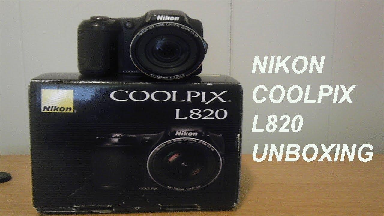 nikon coolpix l820 unboxing youtube