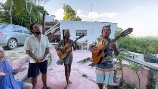 Live music jam at Xul-Ha Bacalar Mexico