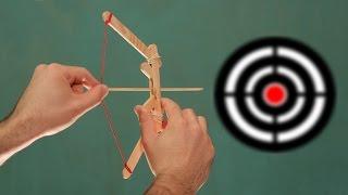 Miniarco e flecha com palitos de sorvete