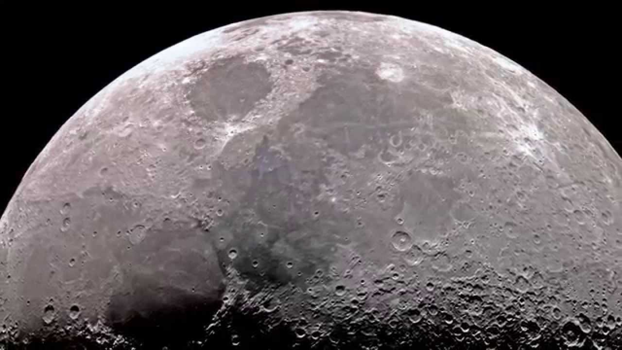 Moon in High Resolution through Telescope - YouTube
