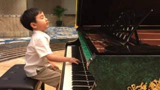 """""""Chopin Minute Waltz"""" (5 years 6 months)"""
