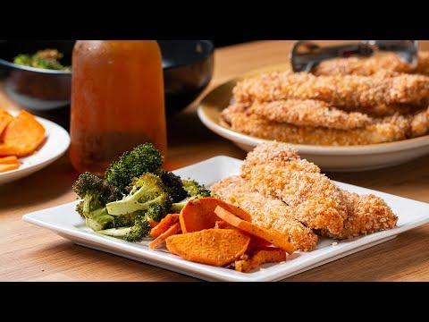 Sheet-Pan Crispy Chicken Strips and Veggies