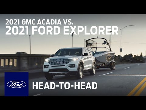 Compare the 2021 GMC Acadia With the 2021 Ford Explorer   Head to Head   Ford
