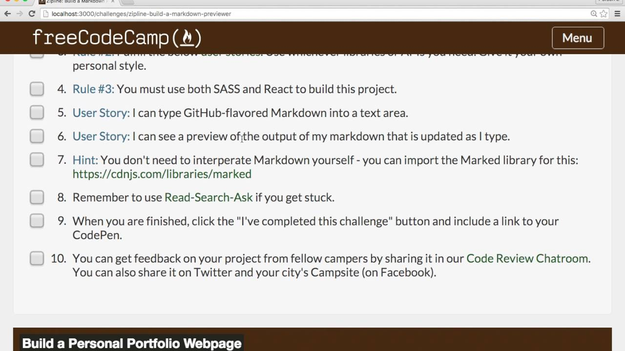 Build a Markdown Previewer