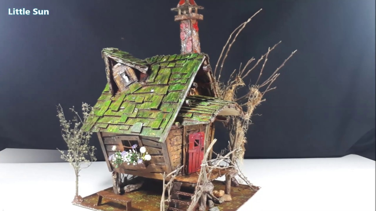 DIY Witch House Using Cardboard - YouTube