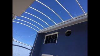 como instalar uma cobertura de Policarbonato em ARCO - clarabóia ou domo Zenital Polysolution
