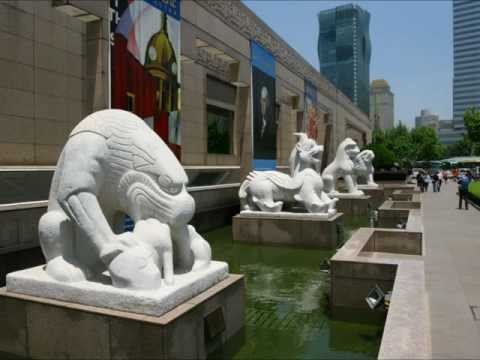 Shanghai, China - Museum of Art and Acrobat Show