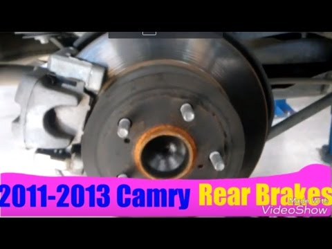 how to replace rear brakes on toyota camry 2007 2017. Black Bedroom Furniture Sets. Home Design Ideas