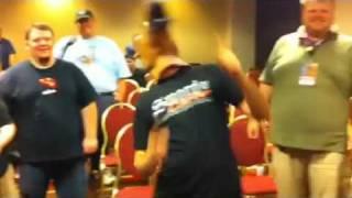 Justin Dances as horseboy