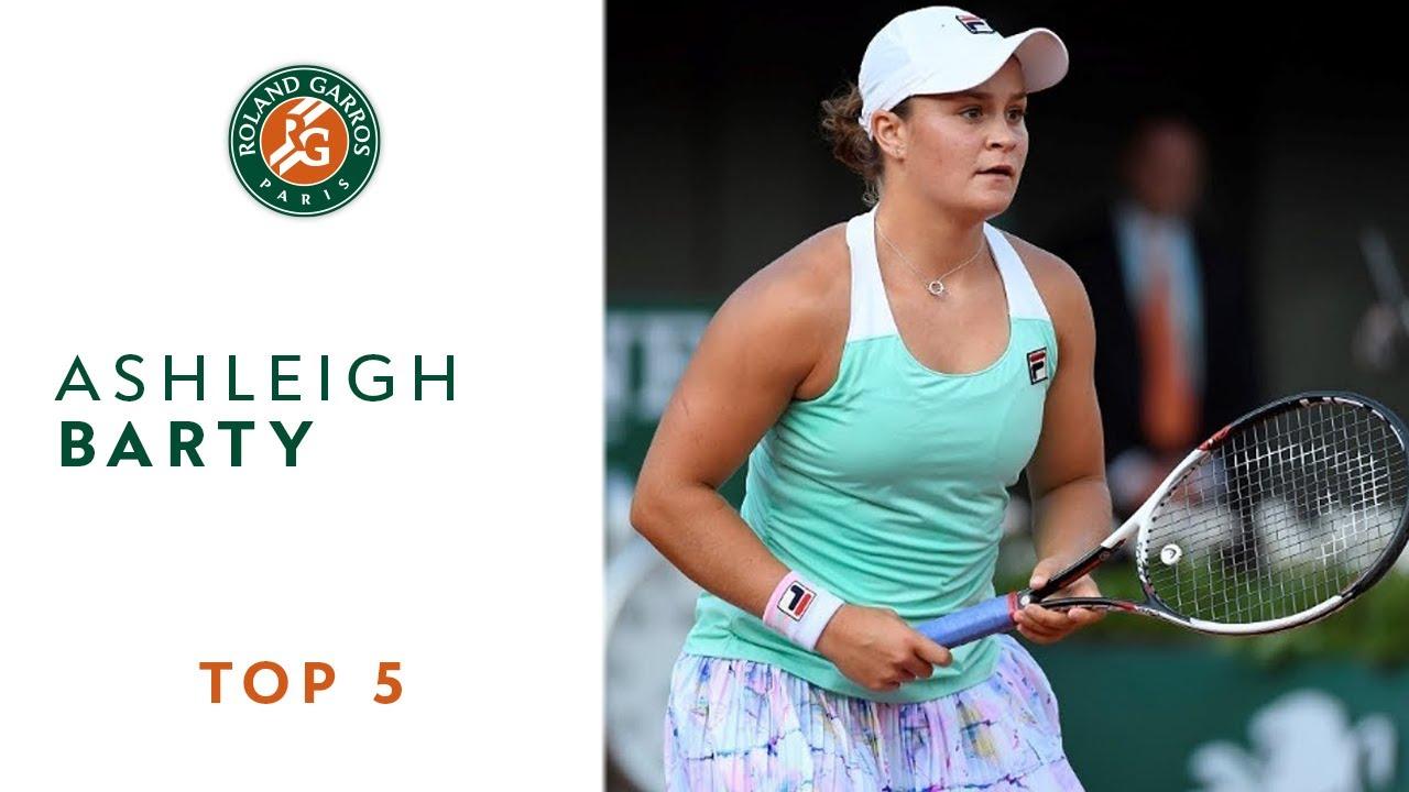 Ashleigh Barty - TOP 5 | Roland Garros 2018