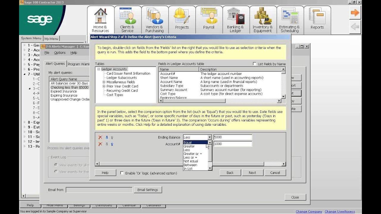 Sage Desktop, Dashboard & Alerts for Sage 100 Contractor