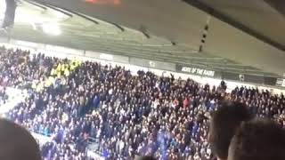 #FanCam: Sheffield Wednesday fans throwing flares at Derby County fans