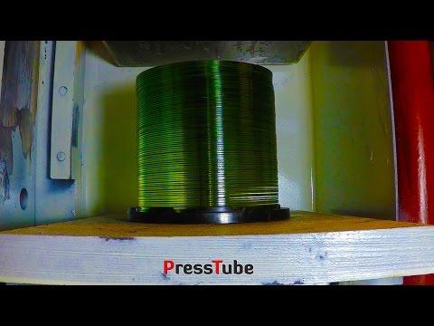 Hydraulic Press | Stack of CD's | 20pcs vs 80pcs