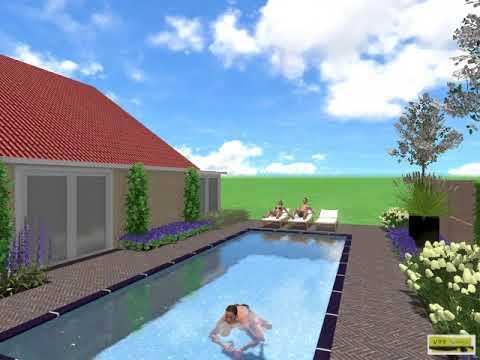 D tuinontwerp met zwembad ontwerp daniël vos vos tuinvisie bv