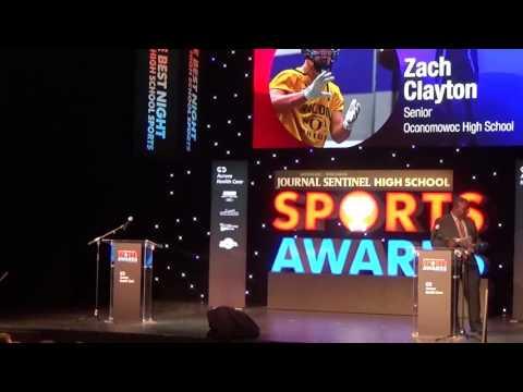 Zach Clayton - 2017 Male Athlete of the Year - Milwaukee Journal Sentinel High School Awards