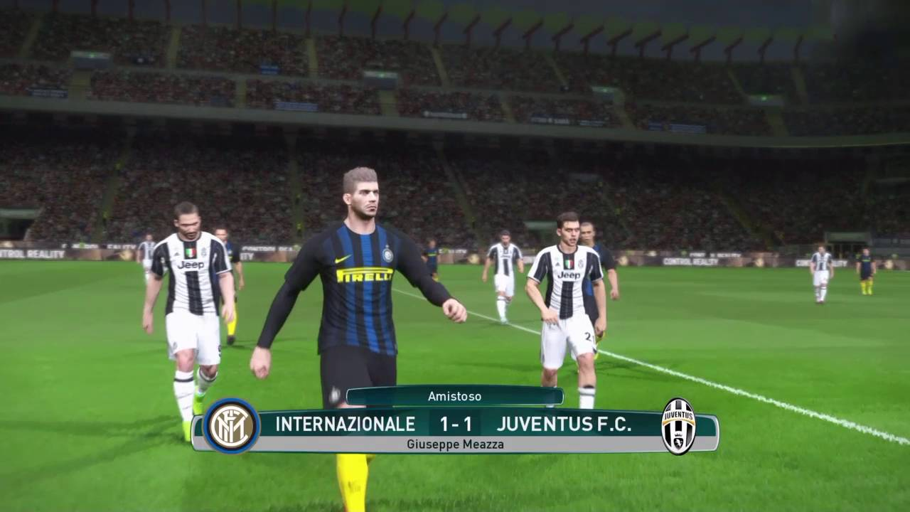 Inter vs juventus derby d 39 italia pro evolution soccer 2017 pes 2017 youtube - Pro inter haguenau ...