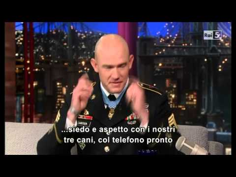Staff Sgt. Ty Michael Carter (part 1) - Letterman - 28 08 2013 - Sub Ita (Rai5)
