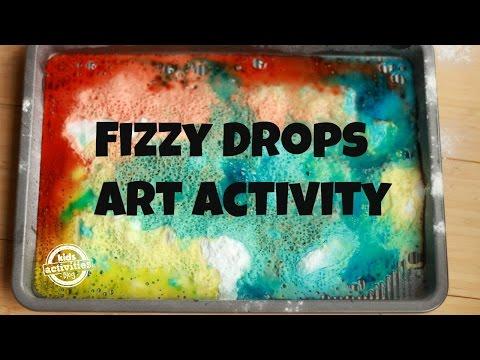 Fizzy Drops Art and Sensory Activity