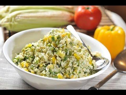 Ensalada de arroz rice salad recetas de ensalada youtube - Ensalada de arroz light ...