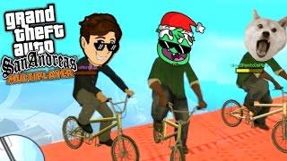 FAILS Y CAÍDAS EN EL PUENTE & SUPERMAN MOD! (GTA San Andreas con Amigos - Funny Moments) Lechu