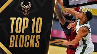 Top 10 Giannis Antetoĸounmpo Playoff Career BLOCKS! 💥