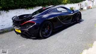 mclaren p1 start up drive and acceleration on the isle of man
