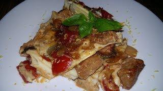 Свинина фьюжн с овощами в омлете | Обрусевшие рецепты | Pork & vegetables with omelet