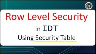 Row Level Security using Database Table | BOBJ Universe