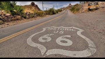 Route 66 through Oatman, Arizona (Mobius Dash Cam)